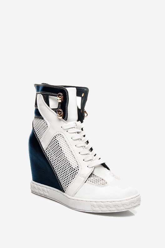 Sneakersy na koturnie Lilly granatowe