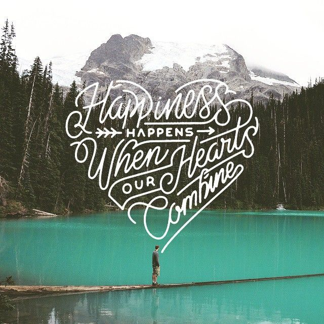 Happiness happens when our hearts combine by misterdoodle