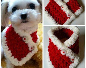 Perro pequeño de ganchillo bufanda perrito ajusta por QuiltNCrochet