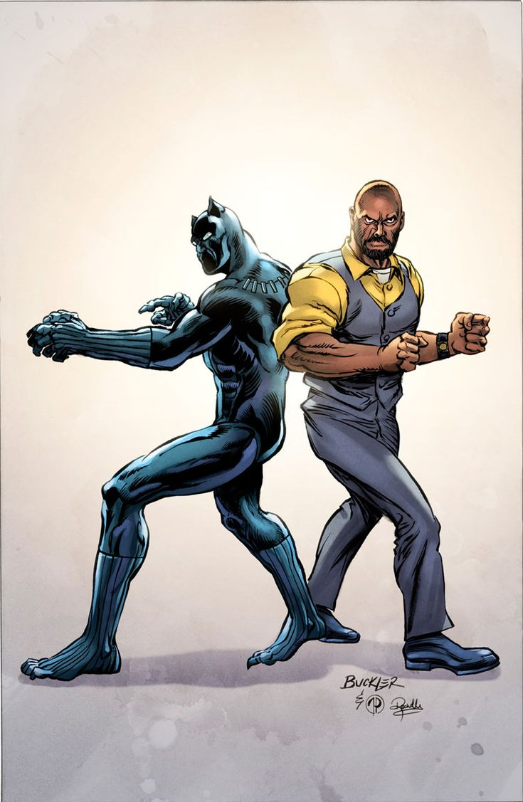 BLACK PANTHER & THE CREW #1 Variant Cover by RICH BUCKLER - Comic Art Community GALLERY OF COMIC ART
