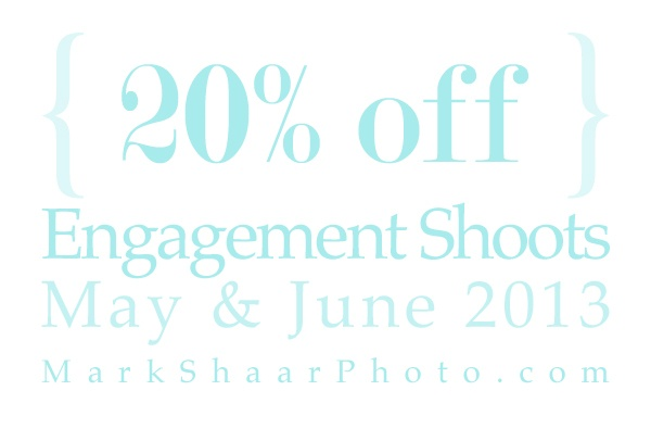 "20% off Engagement Shoots, ""save the date"""