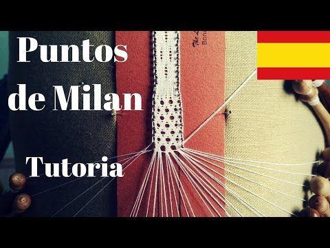 Encaje de Bolillos - Punto de Parrilla #PuntosdeMilan - YouTube