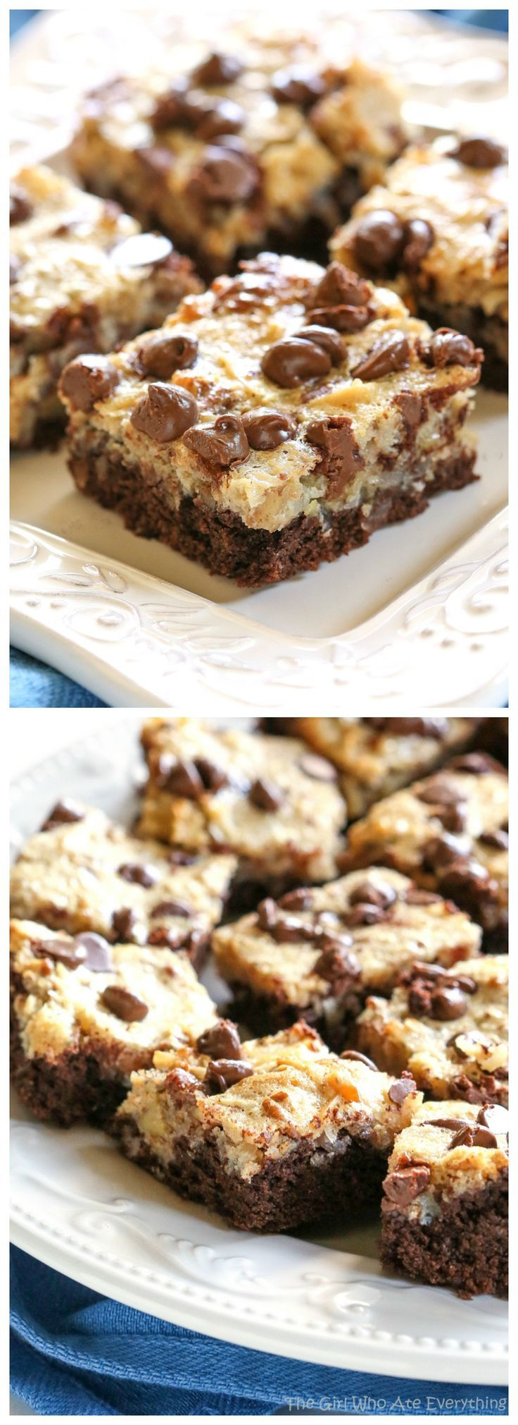 These German Chocolate Cake Bars are all the flavors of your favorite cake in a bar! the-girl-who-ate-everything.com