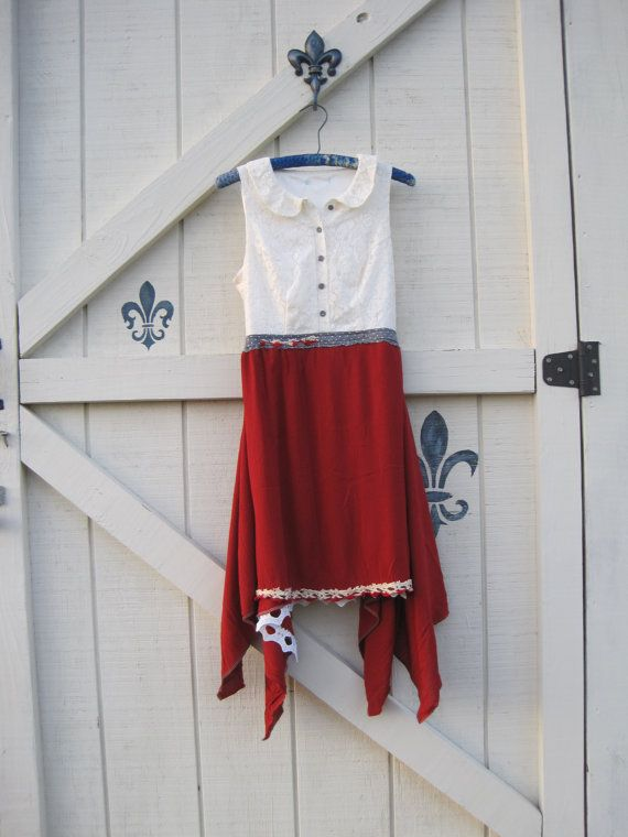 Patriotic dress Fourth of July dress Patriotic by ShabyVintage, $47.00