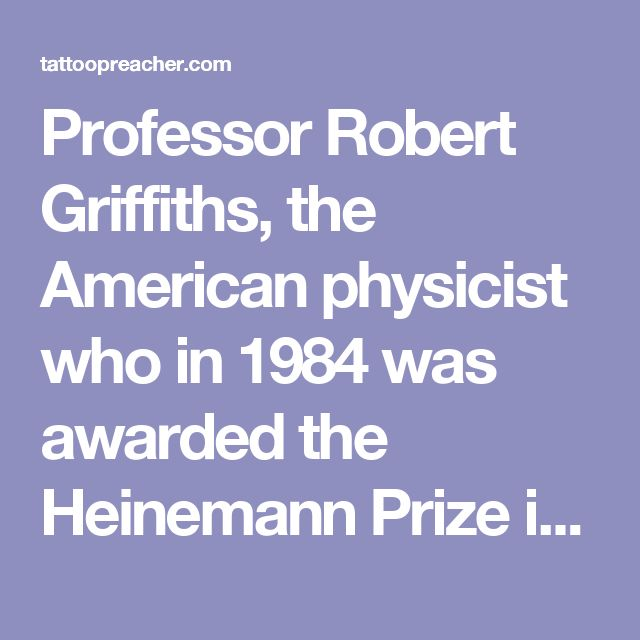 "Professor Robert Griffiths, the American physicist who in 1984 was awarded the Heinemann Prize in Mathematical Physics, once said, ""If we need an atheist for a debate, I go to the philosophy department. The physics department isn't much use!"""