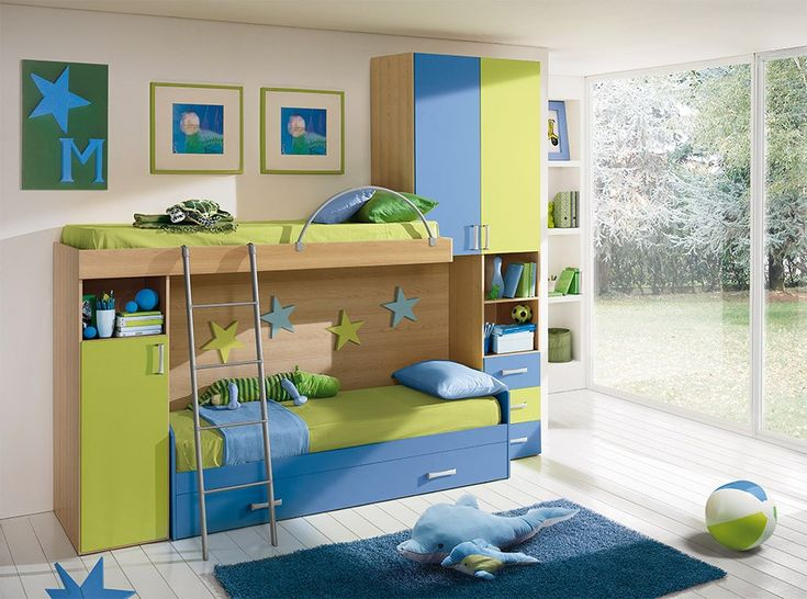 Modern Italian Kids Bedroom Composition VV S002BG - $2,359.00