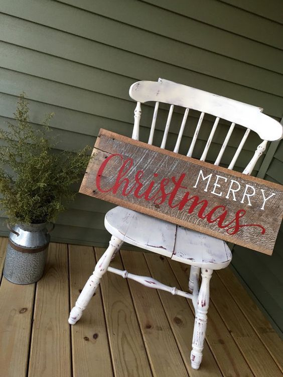 Reclaimed Barnwood Sign Merry Christmas