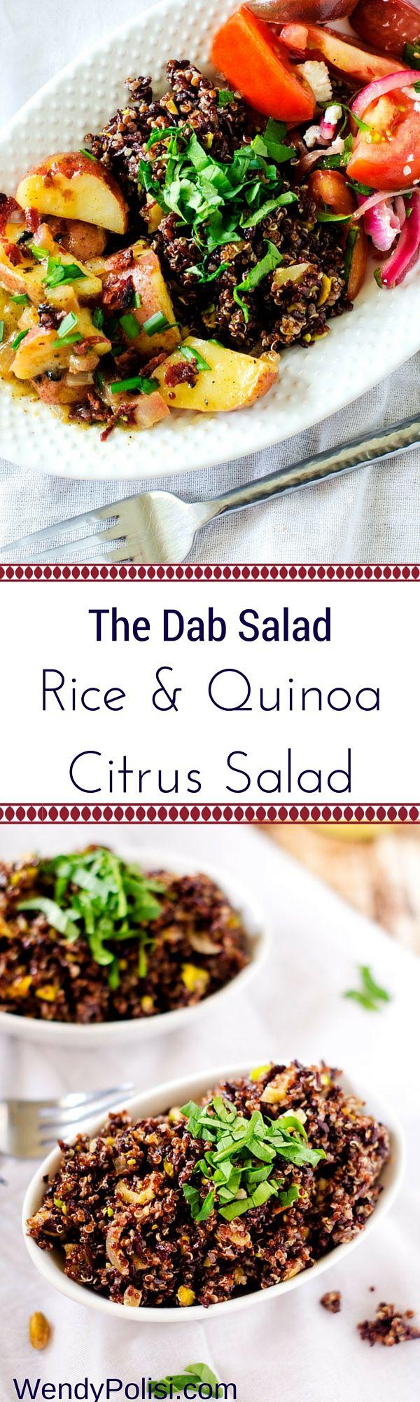 The Dab Salad & Rice & Quinoa Citrus Salad from @wendypolisi #vegan