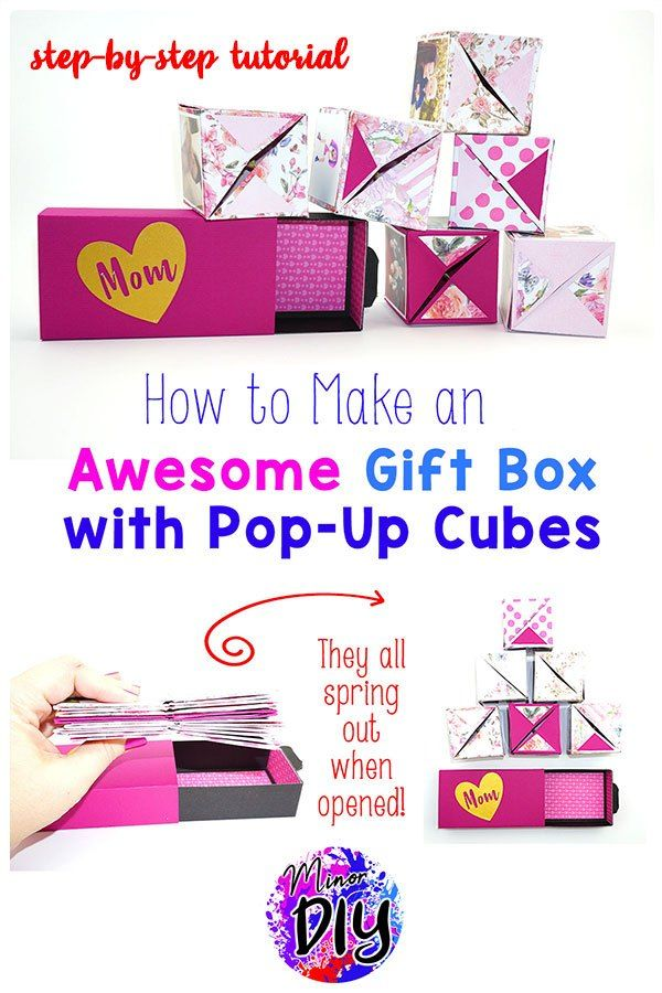 Diy Pop Up Cubes Diy Gift Card Photo Gifts Diy Gifts Forbest Friend