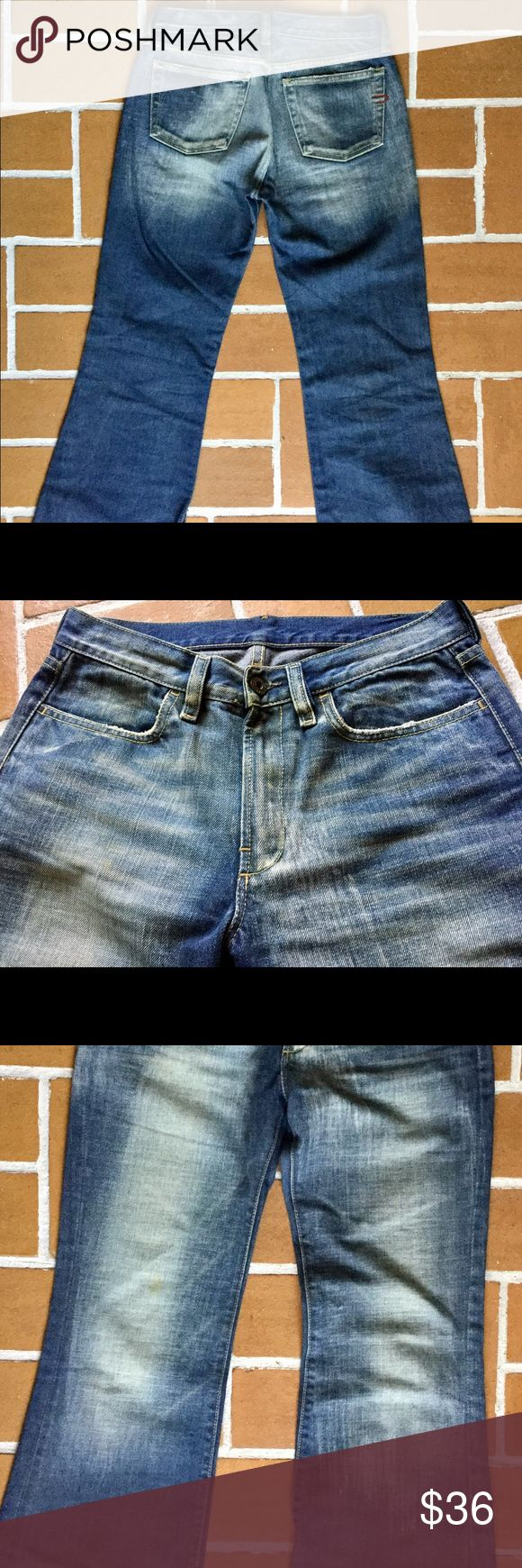 Diesel straight leg denim Diesel denim with awesome frost like fade effect, great wash. Only worn twice. 100% cotton Diesel Jeans Straight Leg