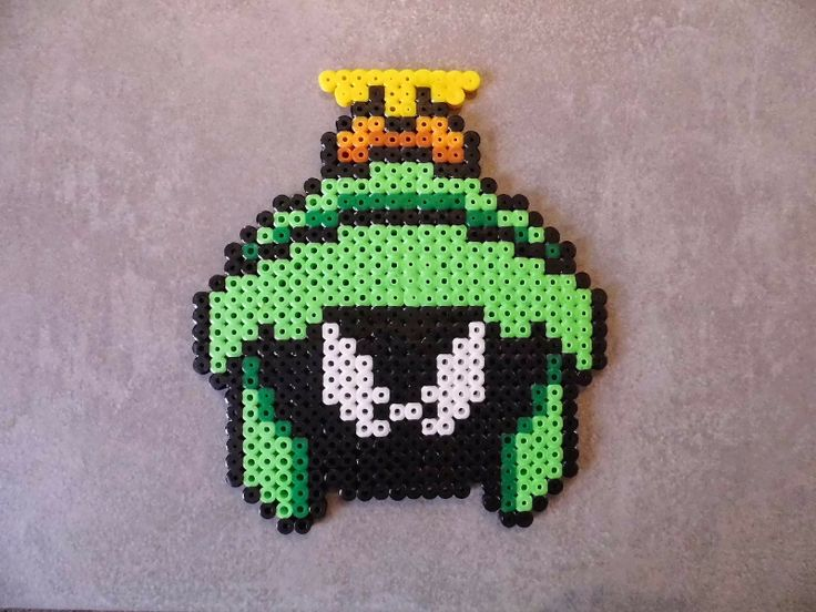 Marvin the Martian Hama perler beads by Sebastien Herpin