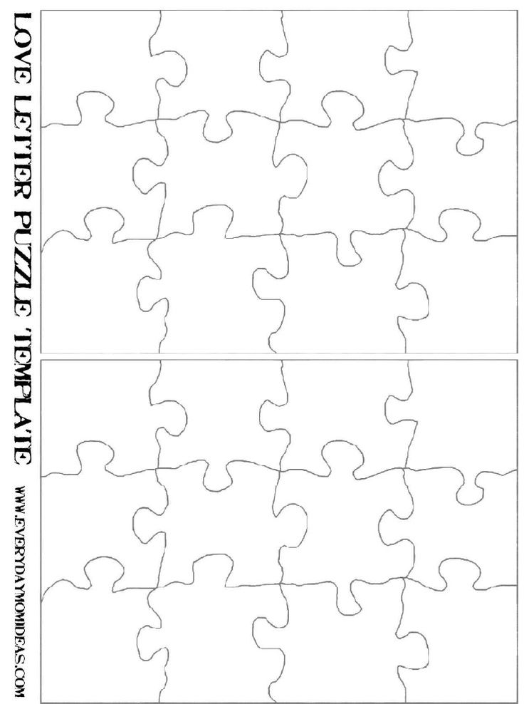 Love note puzzle template