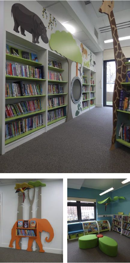 Jungle themed library for #primaryschool #reading #education #library
