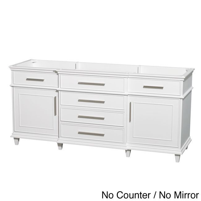 Gallery For Photographers Wyndham Collection Berkeley inch White Double Bathroom Vanity Ivory top no mirror Size Double Vanities