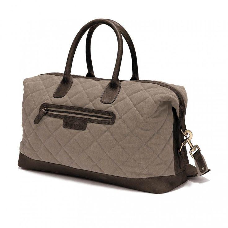 Reisetasche von DRAKENSBERG - #Airtraveller #Handgepäck #Herren #Damen #grey #grau #bag #Tasche #Reisetasche #vintage #Canvas #leather