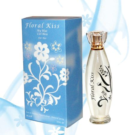 Floral Kiss – Sky Blue a special fragrance for women from the house of Canada Scents, Canada. Sky Blue – A stunning fragrance with Sicilian citron, Granny Smith apple, and unusual bluebells. Also has jasmine, bamboo, white rose and a touch of amber and musk. Yet remains mild, subtle and pleasing.  Sky Blue evokes blue skies on a clear day wafting with special fragrances.  A contemporary fragrance that can be used any time for any occasion. (Made in Canada) www.canadascents.com