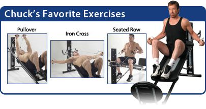 chuck norris loves exercising with  total gym total gym