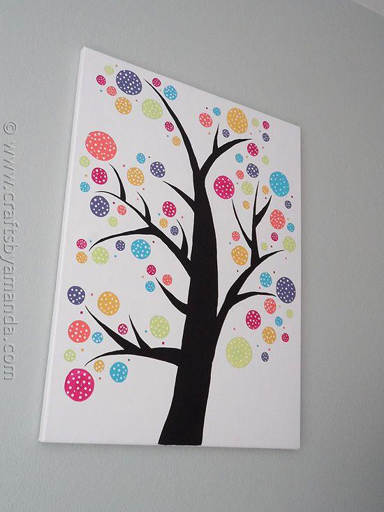 Polka Dot Circle Tree - Crafts by Amanda