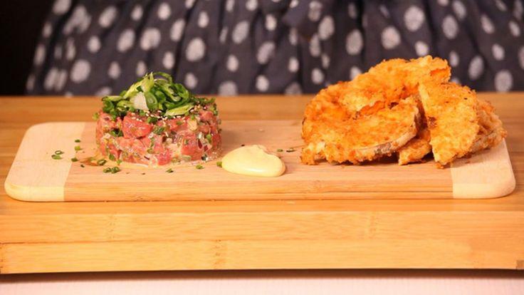 Tartare de boeuf et patates douces tempura genevi ve everell d voile sa recette de tartare de - Tartare de boeuf cyril lignac ...