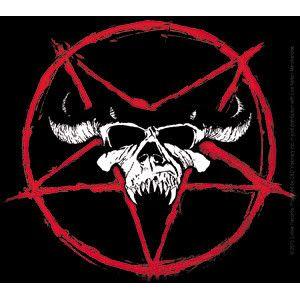 "Danzig Skull Pentagram Logo Sticker Approx 4""x 4.25"""