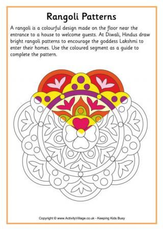 Who are we kidding, this is for me, not the kids! i love to color! Rangoli Colouring Patterns