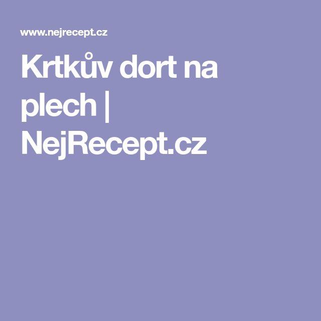 Krtkův dort na plech | NejRecept.cz