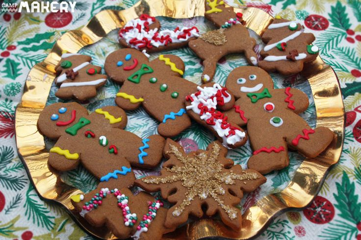 Delicious and Picture Perfect Gingerbread Cookies Recipe | Camp Makery