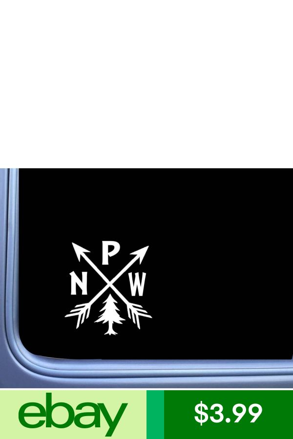 EZ-STIK Pacific Northwest PNW Hiking Vinyl M114 6 Inch Sticker Decal Camping Arrows