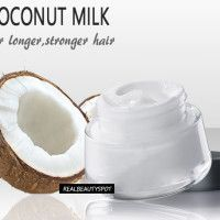 Natural Homemade Coconut milk hair products