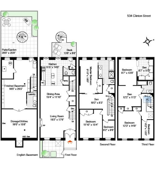 68 best townhouse duplex plans images on pinterest for Luxury townhome plans