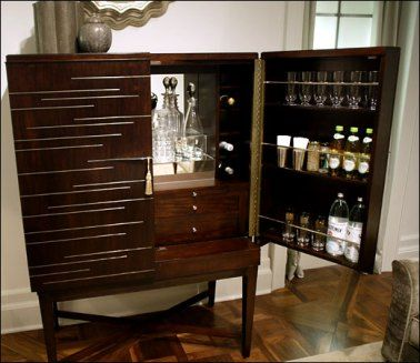 Bernhardt: Larkspur #bar Cabinet | Hitting The Bar | @mecc Interiors Inc.