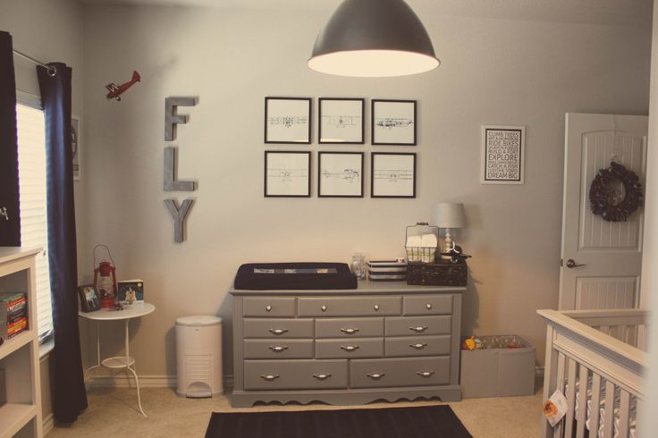 Vintage Airplane Gray Nursery