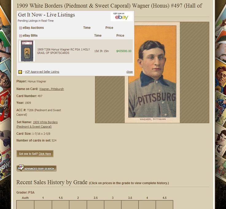 1909 t206 honus wagner graded psa 1 for sale at 435k it