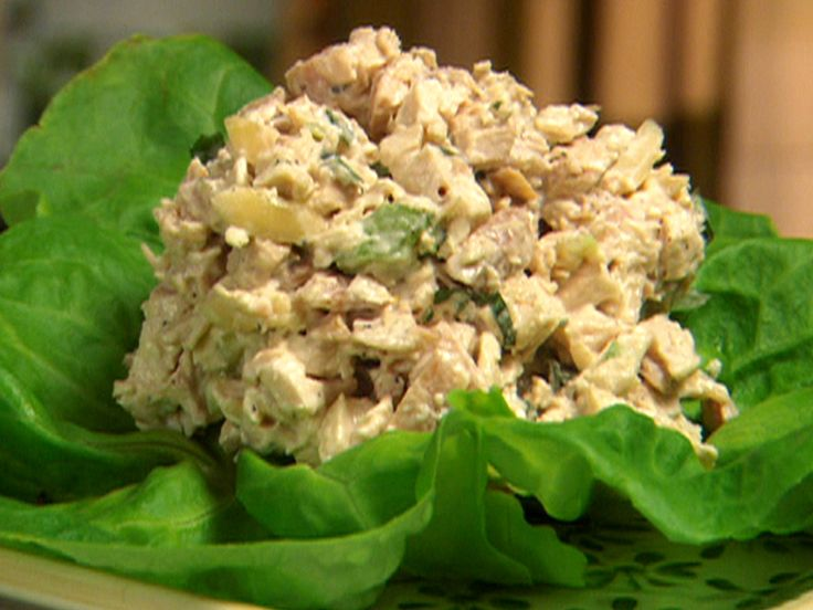 Lemon Basil Chicken Salad.  It's delicious!  I substitute Greek Yogurt for the Sour Cream and Mayo.
