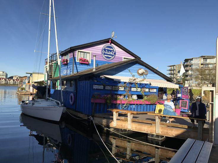 Fisher man Wharf de Victoria en la isla de Vancouver