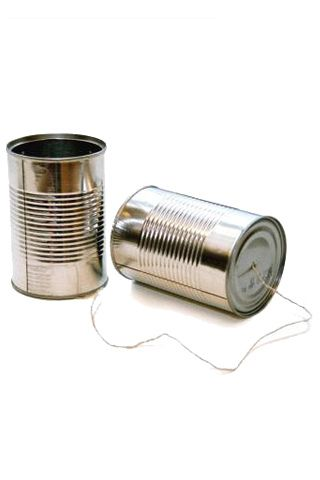 tin can phone and the very quiet cricket