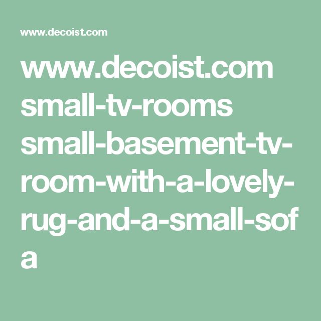 www.decoist.com small-tv-rooms small-basement-tv-room-with-a-lovely-rug-and-a-small-sofa