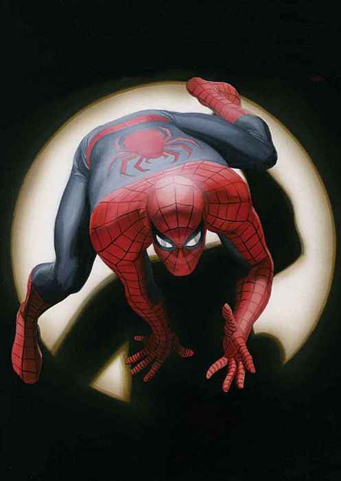 Spider-Man by Alex Ross, cover of a great graphic novel: Marvels.