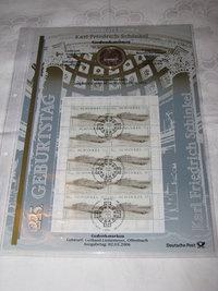 Coin Sheets. coin and Stamp Collection, Numisblatt von der deutschen Post mit der Nummer 2 aus dem Jahr 2006: 225. Geburtstag Karl Friedrich Schinkel. Briefmarken und Münze, http://www.sammler-und-hobbyshop.eu/Numisblatt-2/2006-225-Geburtstag-Karl-Friedrich-Schinkel
