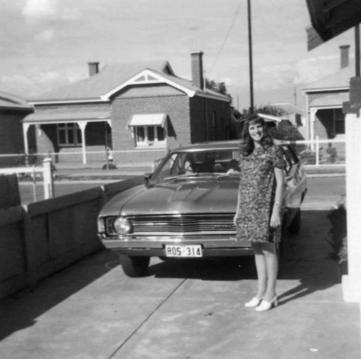 My 1973 ford Falcon 500 with Colleen - now pregnant with our fourth child, Tamar