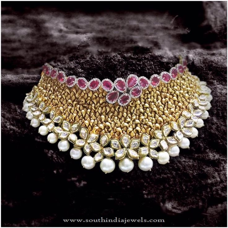 Gold Necklace Designs from P.Satyanarayan