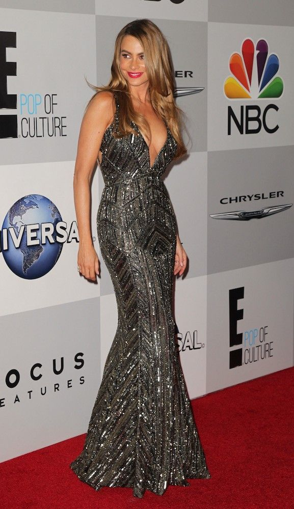 Sofia Vergara on the Golden Globes 2014 after party red carpet.  Love.