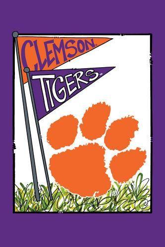 CLEMSON MASCOT FLAG