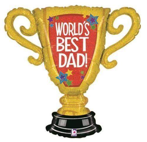 Betallic-Worlds-Best-Dad-Trophy-33-Inch-Supershape-Foil-Balloon