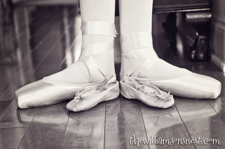 First ballet shoes and first pointe shoes The Williamson's Nest
