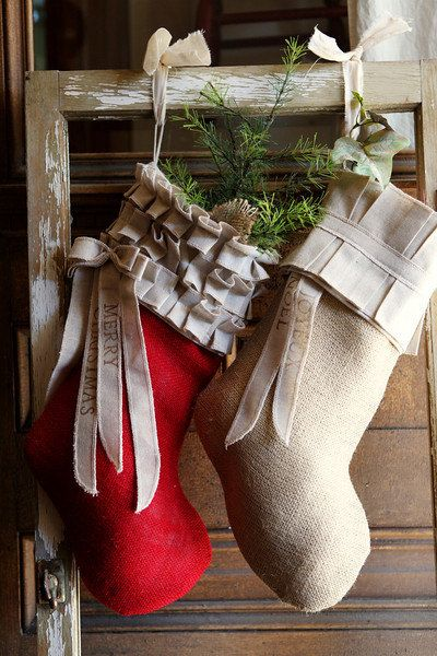 3 Custom Christmas stockings this listing is for by atcompanyb. Love the red one too!!