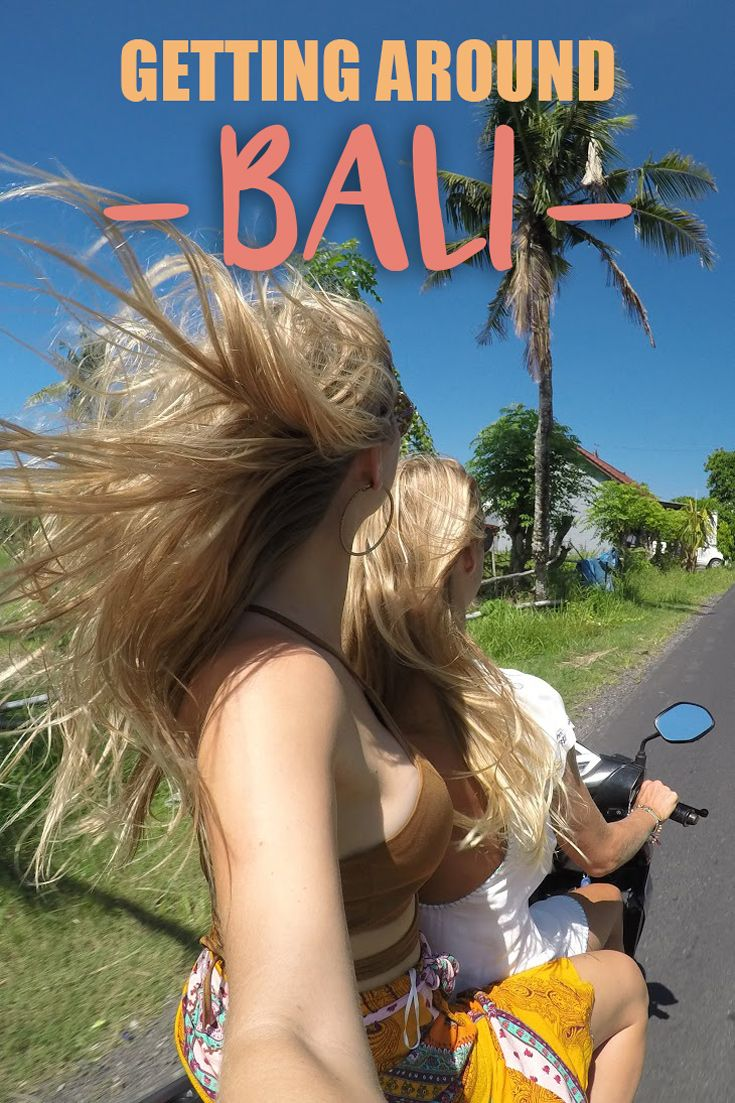 """Getting Around Bali: My recommendation is to avoid the traffic of Bali  by renting a scooter—a fast way to zip through the streets and countryside.Renting a motorbike is the """"way"""" of Bali and very cheap. If you don't feel comfortable driving yourself, you can use the GO-JEK app for an Uber-type service but on the back of a motorbike."""