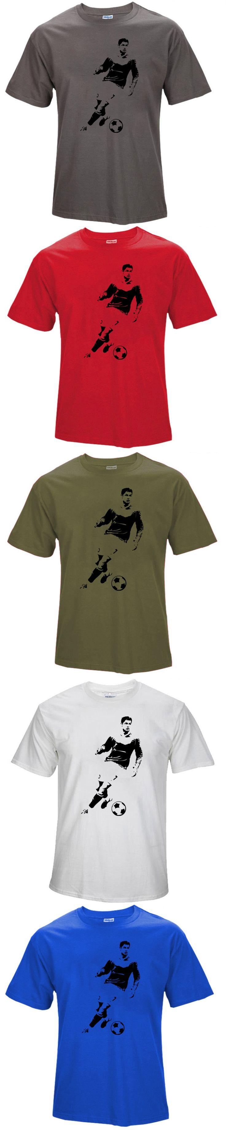 2016 Summer World Cup Cristiano Ronaldo Men's T-Shirt 2017 Camiseta Barcelonae Barcelona Casual Cotton T Shirt  S172