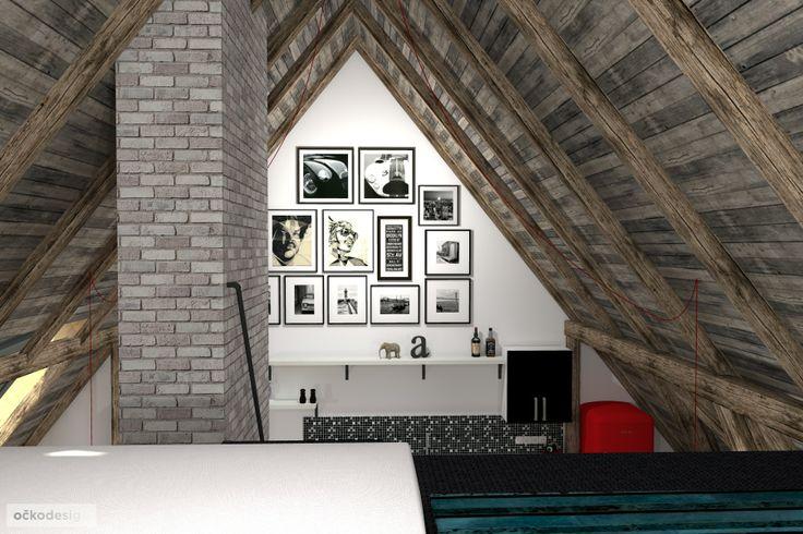 ...i pohled z ložnice do zbytku interiéru je působivý