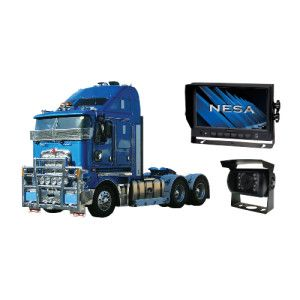 Truck camera functions like a reverse camera for heavy duty commercial vehicles. This camera is for reversing and blind spots.